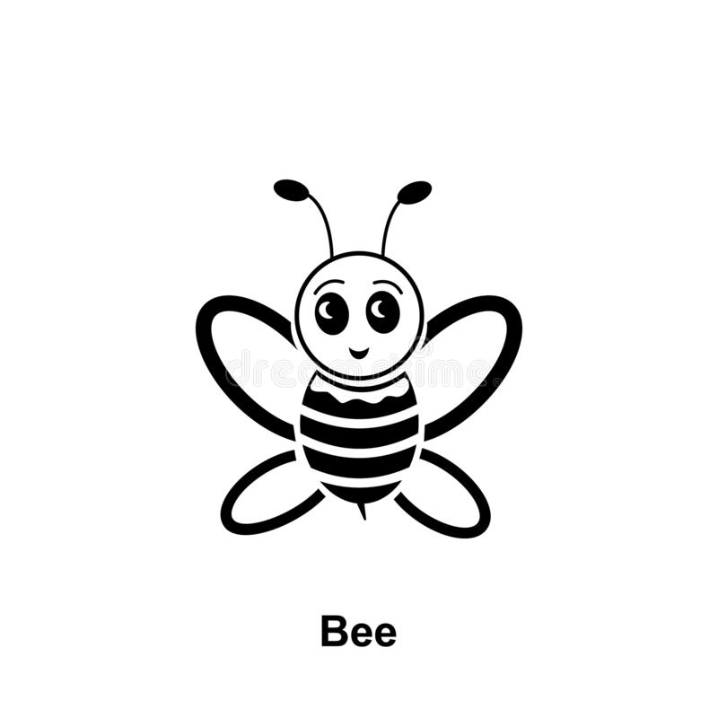 Icono lindo de la abeja Elemento del icono de la apicultura Icono superior del diseño gráfico de la calidad Muestras e icono de l libre illustration