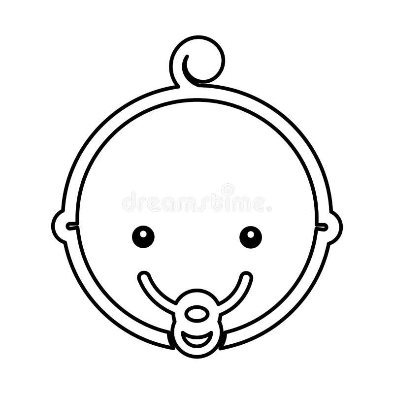 Icono lindo de la cabeza del bebé libre illustration