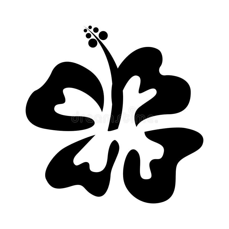 icono lindo de la flor de Hawaii ilustración del vector
