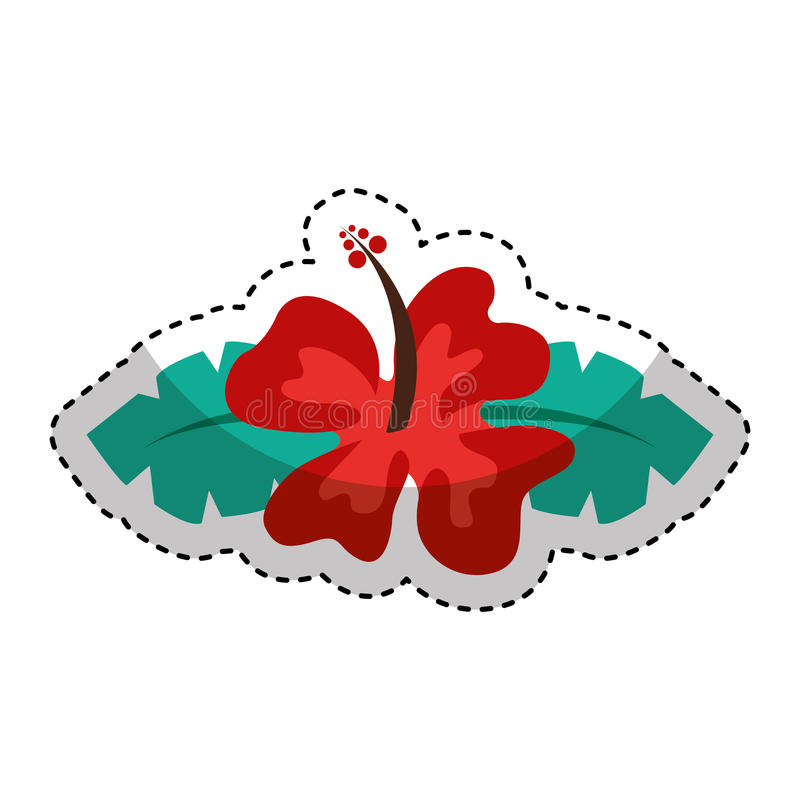 icono lindo de la flor de Hawaii libre illustration