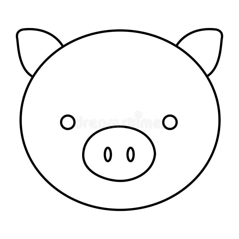 Encantador Cara De Cerdo Para Colorear Motivo - Páginas Para ...