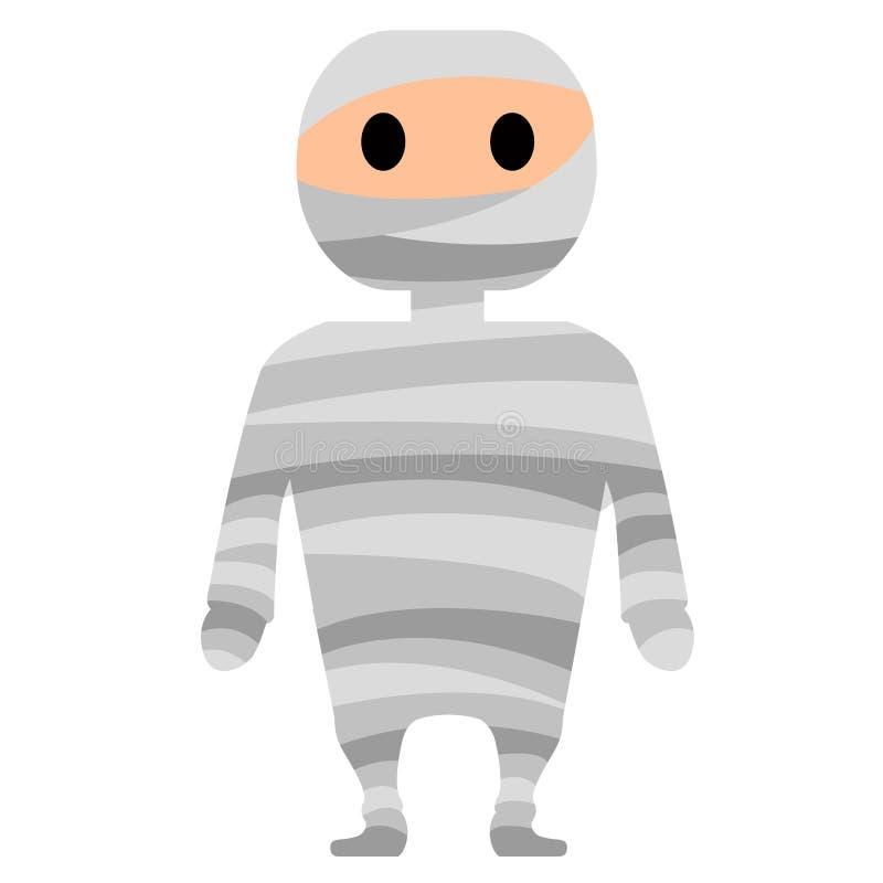 Icono lindo de la momia ilustración del vector