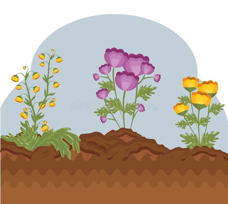 Icono lindo de la planta de la flor libre illustration