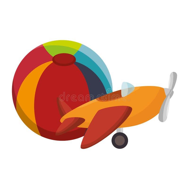 icono lindo de los juguetes de los niños stock de ilustración