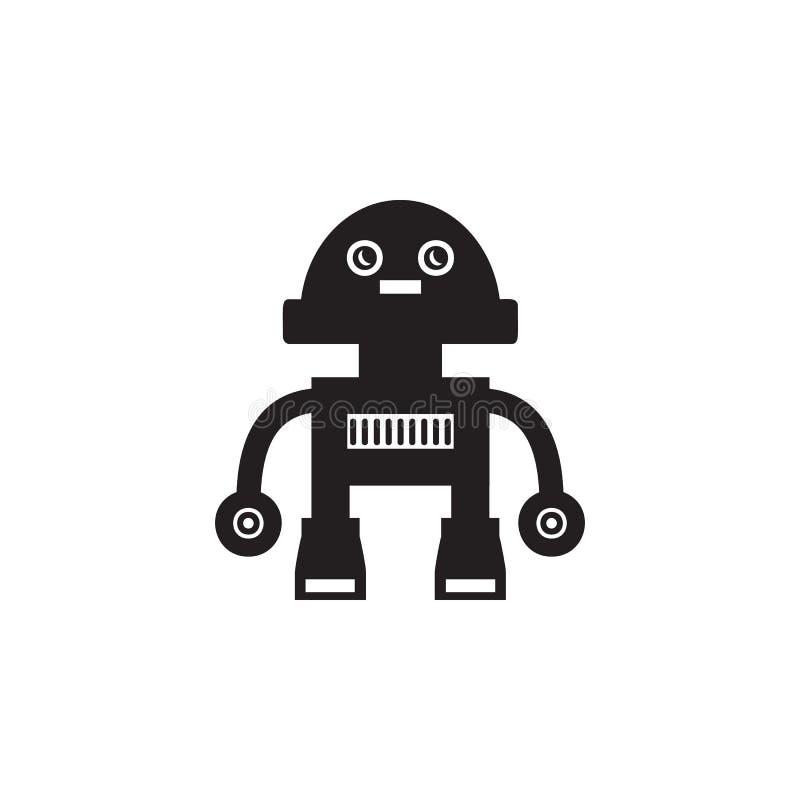 Icono lindo del robot Elemento de los robots para las muestras de publicidad, apps móviles del concepto y del web Icono para el d ilustración del vector