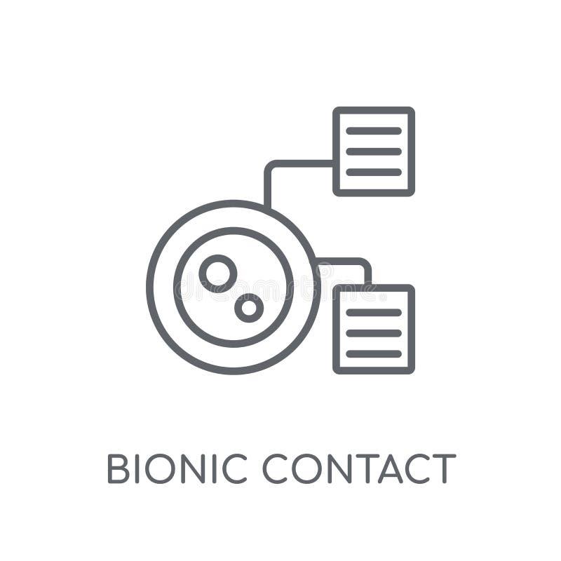 Icono linear biónico de la lente de contacto Contacto biónico l del esquema moderno ilustración del vector