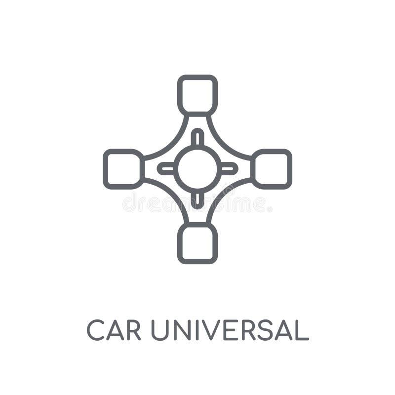icono linear común universal del coche Jo universal del coche moderno del esquema stock de ilustración