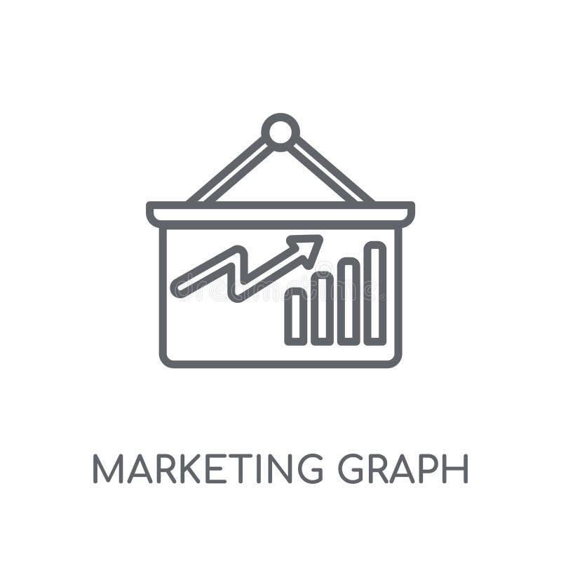icono linear de comercialización del gráfico Logotipo moderno del gráfico del márketing del esquema ilustración del vector