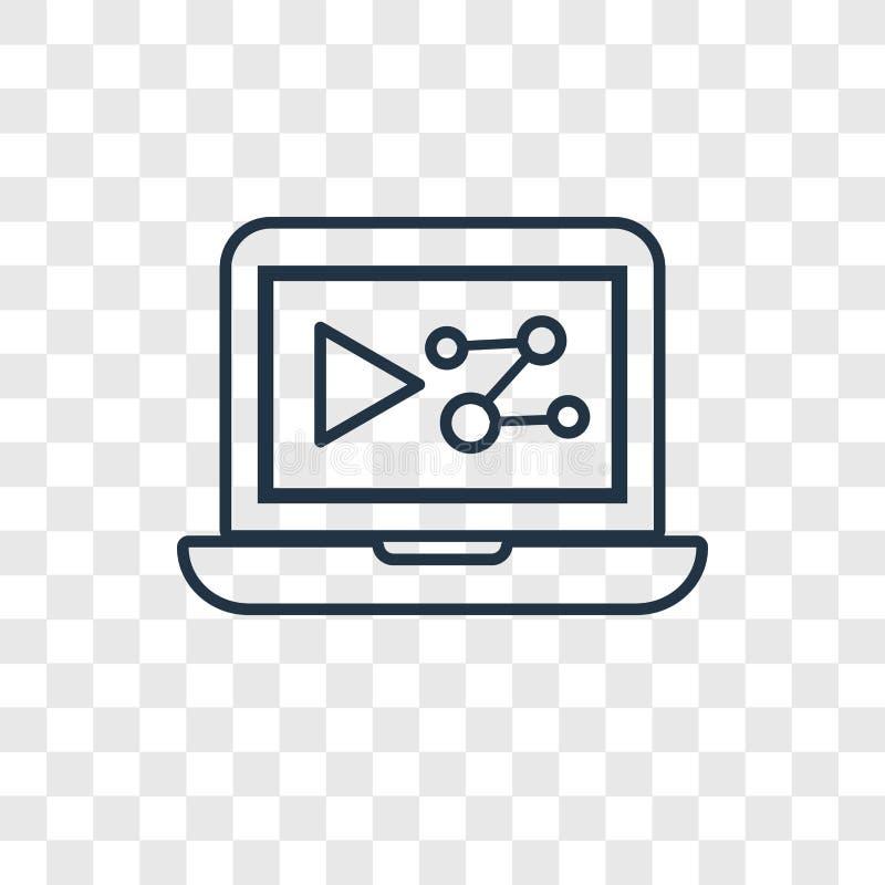 Icono linear de comercialización del vector del concepto de Digitaces aislado en transpa libre illustration
