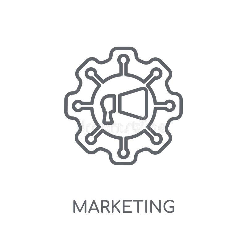 Icono linear de comercialización de la automatización Autom moderno del márketing del esquema stock de ilustración