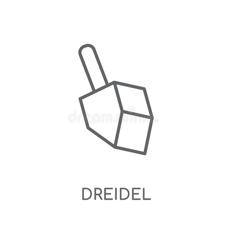 Icono linear de Dreidel Concepto moderno del logotipo de Dreidel del esquema en pizca stock de ilustración