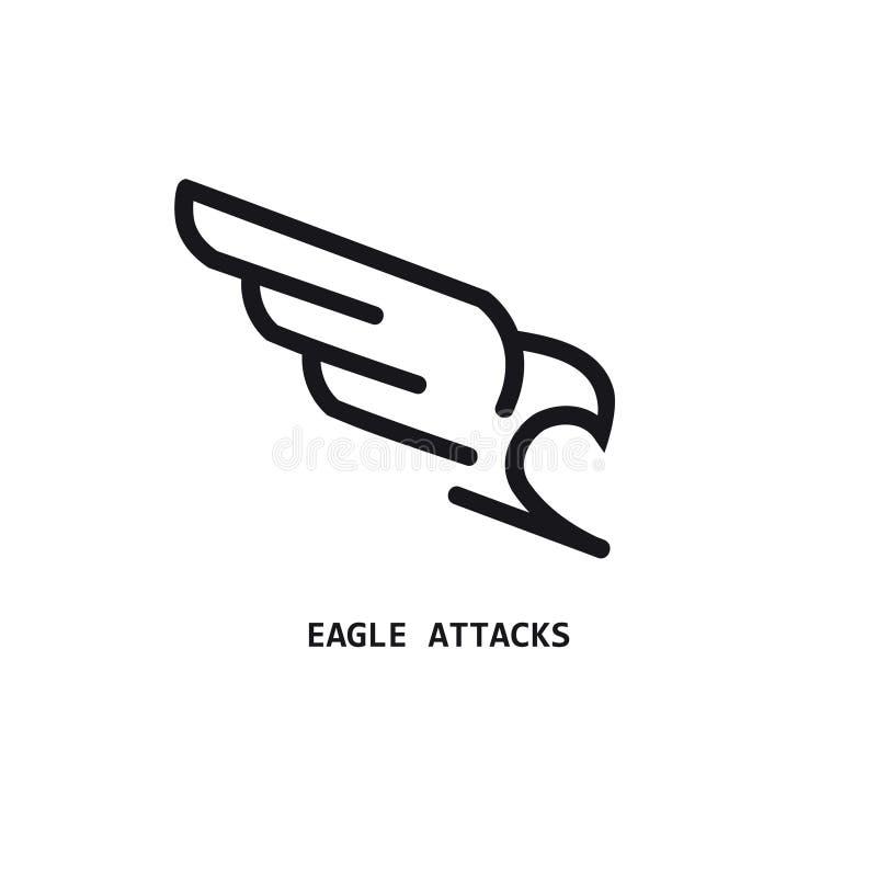 Icono linear de Eagle stock de ilustración
