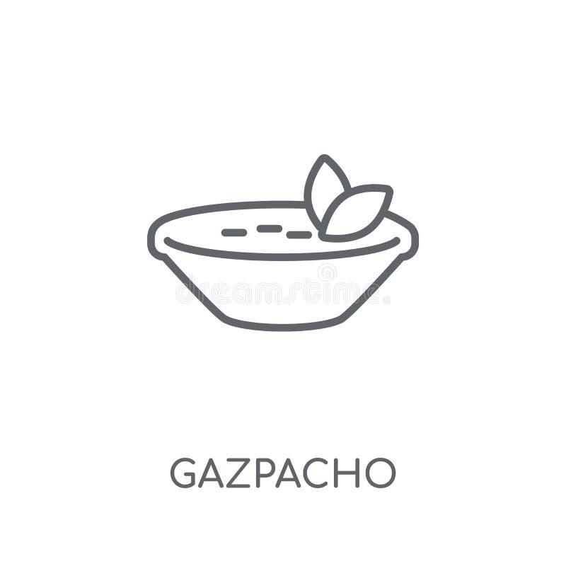 Icono linear de Gazpacho Concepto moderno del logotipo de Gazpacho del esquema en wh stock de ilustración