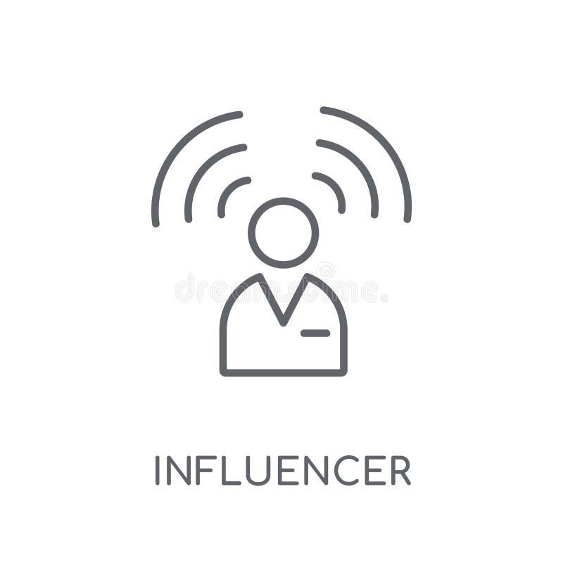 Icono linear de Influencer Concepto moderno o del logotipo de Influencer del esquema libre illustration