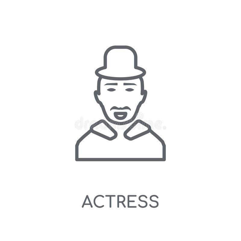 icono linear de la actriz Concepto moderno del logotipo de la actriz del esquema en pizca ilustración del vector