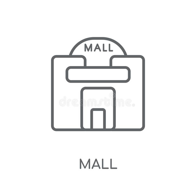 Icono linear de la alameda Concepto moderno del logotipo de la alameda del esquema en la parte posterior blanca libre illustration