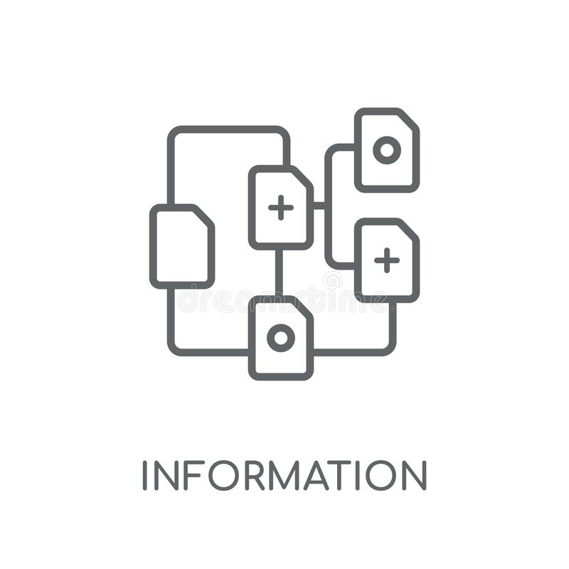 icono linear de la arquitectura de la información Información moderna del esquema libre illustration