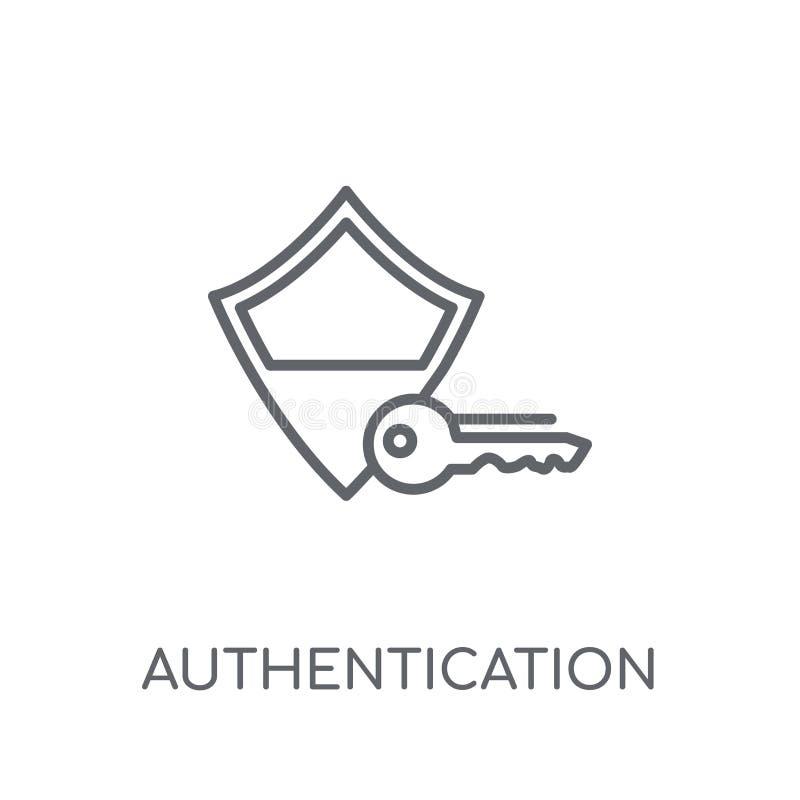 Icono linear de la autentificación Logotipo moderno c de la autentificación del esquema stock de ilustración