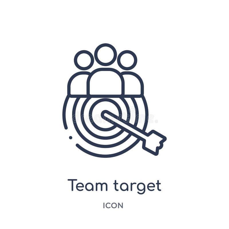 Icono linear de la blanco del equipo de la colección del esquema general Línea fina icono de la blanco del equipo aislado en el f ilustración del vector