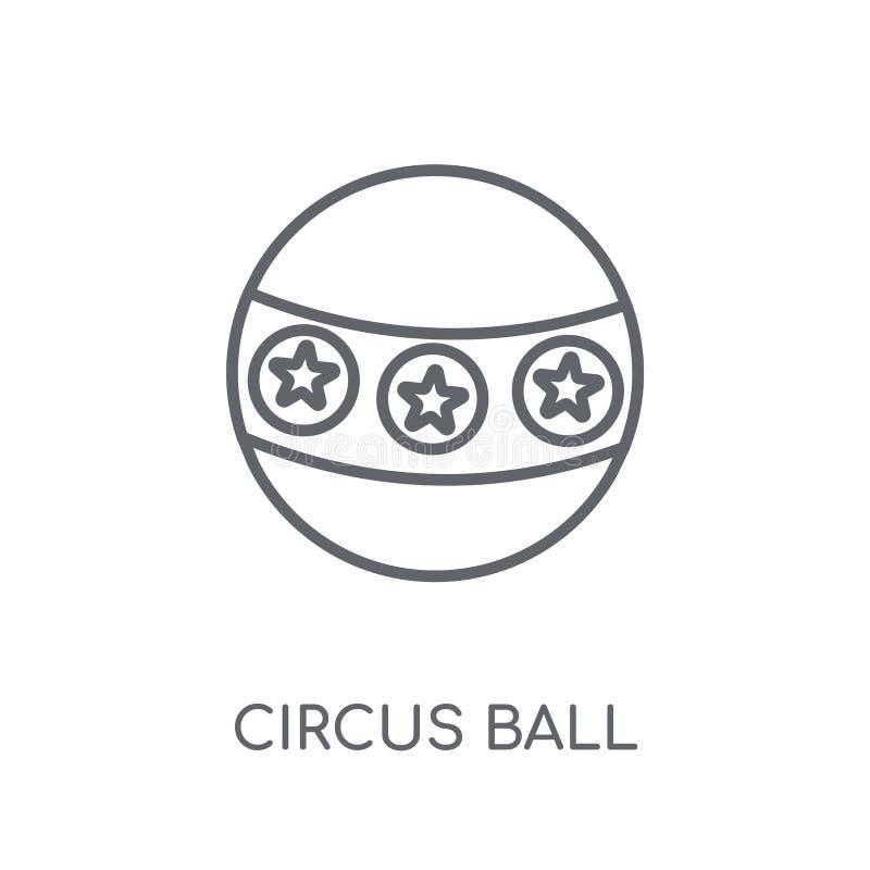 Icono linear de la bola del circo Concepto moderno del logotipo de la bola del circo del esquema libre illustration