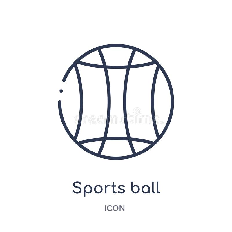 Icono linear de la bola de los deportes del entretenimiento y de la colección del esquema de la arcada La línea fina se divierte  libre illustration