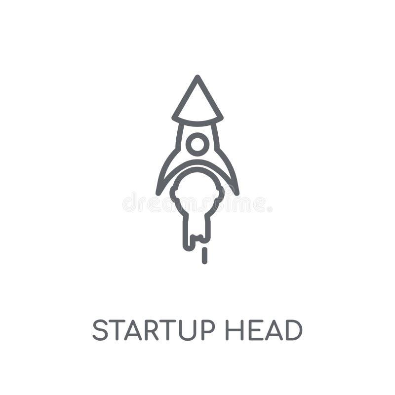 icono linear de la cabeza de lanzamiento Conce principal de lanzamiento del logotipo del esquema moderno libre illustration