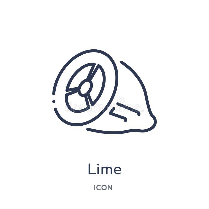 Icono linear de la cal de la colección del esquema de la gastronomía Línea fina icono de la cal aislado en el fondo blanco ejempl libre illustration