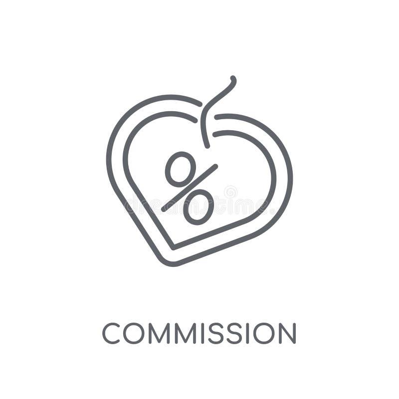 Icono linear de la Comisión Concepto moderno o del logotipo de la Comisión del esquema libre illustration