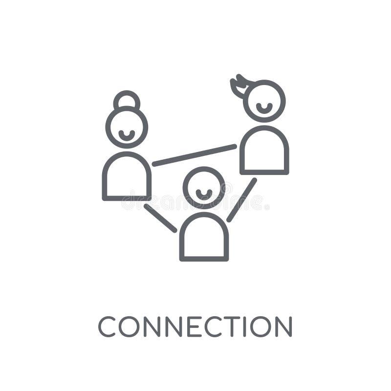 Icono linear de la conexión Concepto moderno o del logotipo de la conexión del esquema stock de ilustración