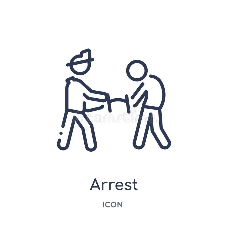 Icono linear de la detención de la actividad y de la colección del esquema de las aficiones Línea fina vector de la detención ais ilustración del vector