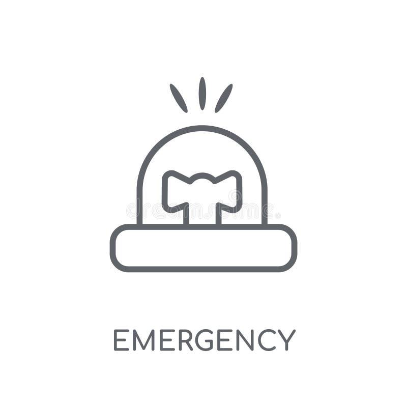 Icono linear de la emergencia Concepto moderno del logotipo de la emergencia del esquema encendido stock de ilustración