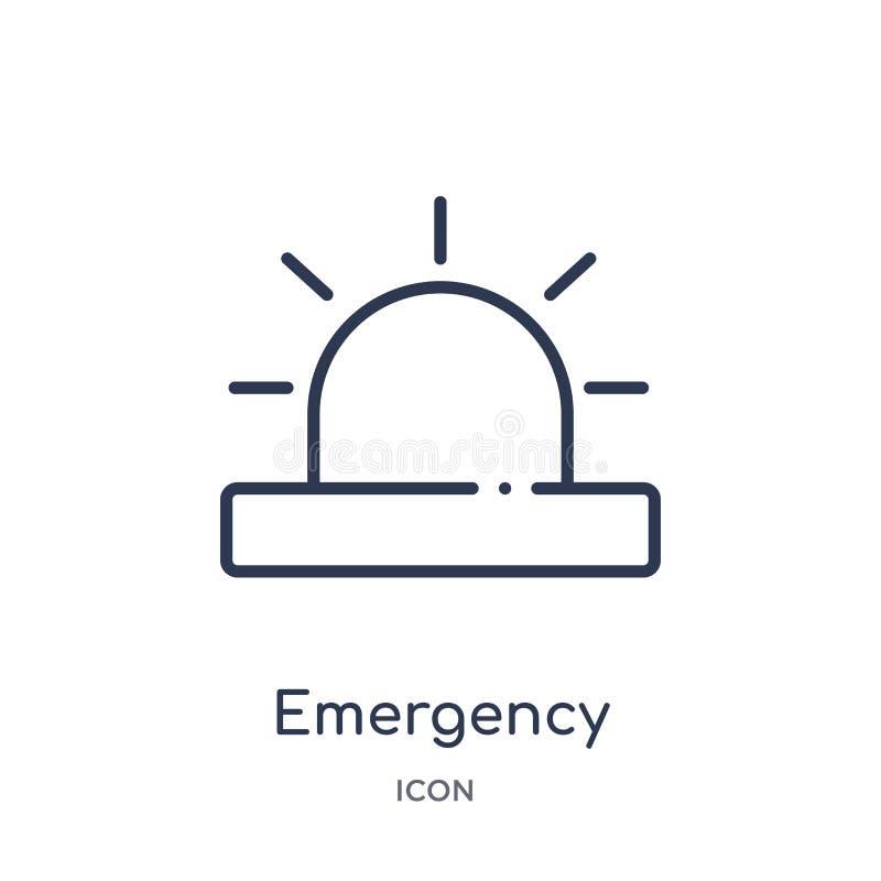 Icono linear de la emergencia de la salud y de la colección médica del esquema Línea fina icono de la emergencia aislado en el fo libre illustration