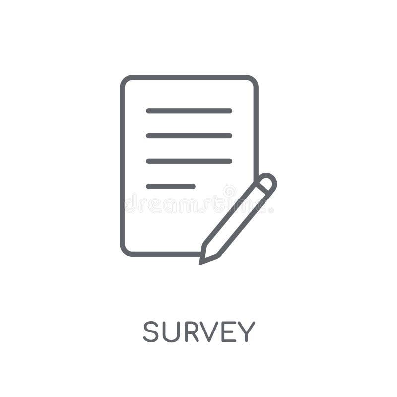 Icono linear de la encuesta Concepto moderno del logotipo de la encuesta sobre el esquema en blanco stock de ilustración