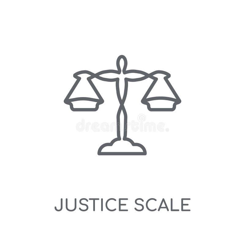 icono linear de la escala de la justicia Estafa moderna del logotipo de la escala de la justicia del esquema libre illustration