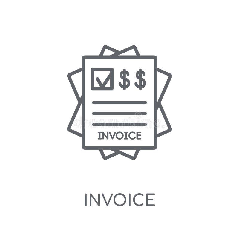 icono linear de la factura Concepto moderno del logotipo de la factura del esquema en pizca libre illustration