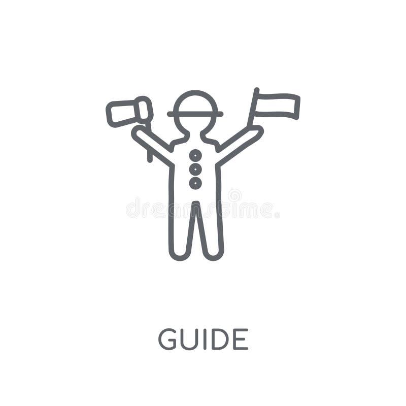 Icono linear de la guía Concepto moderno del logotipo de la guía del esquema en los vagos blancos libre illustration