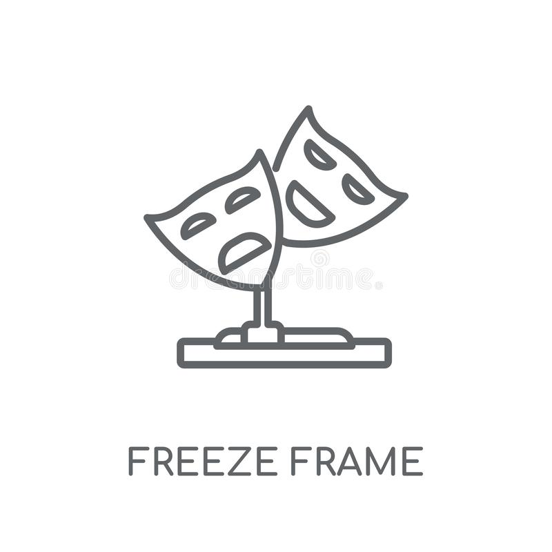 icono linear de la imagen congelada Conce moderno del logotipo de la imagen congelada del esquema stock de ilustración