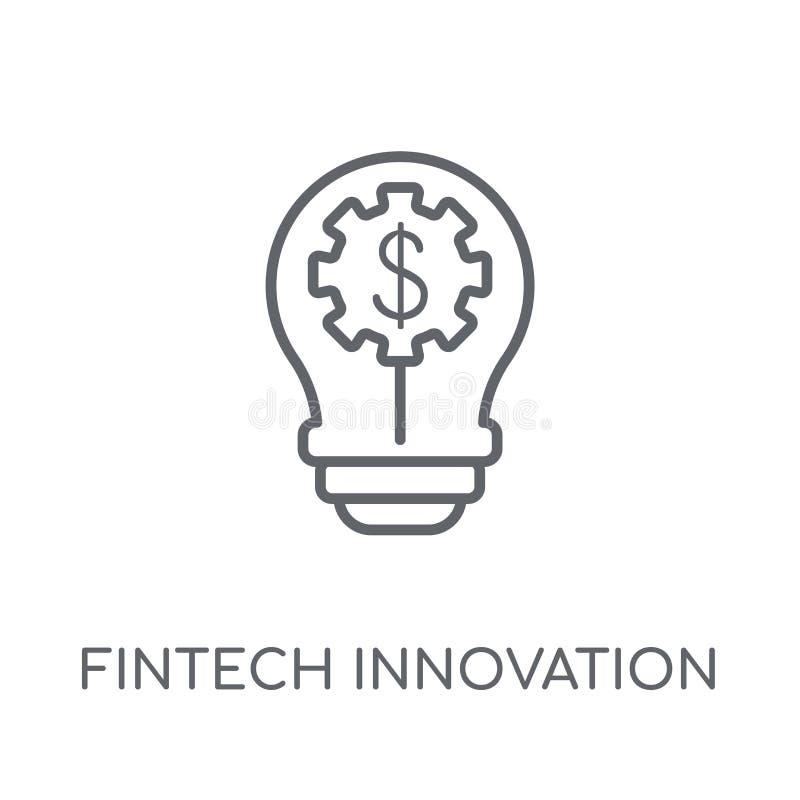 icono linear de la innovación del fintech Innovatio moderno del fintech del esquema libre illustration