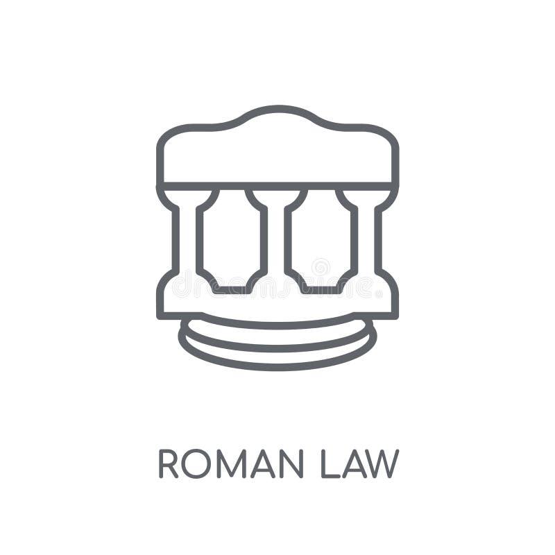 Icono linear de la ley romana Concepto moderno del logotipo de la ley romana del esquema encendido stock de ilustración