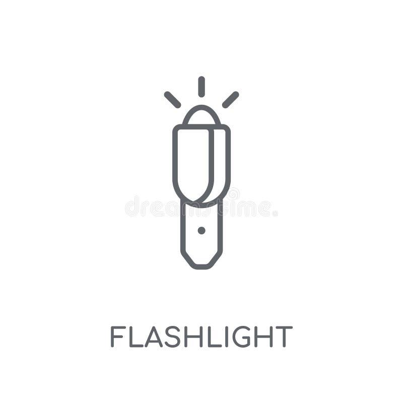 Icono linear de la linterna Concepto moderno o del logotipo de la linterna del esquema ilustración del vector
