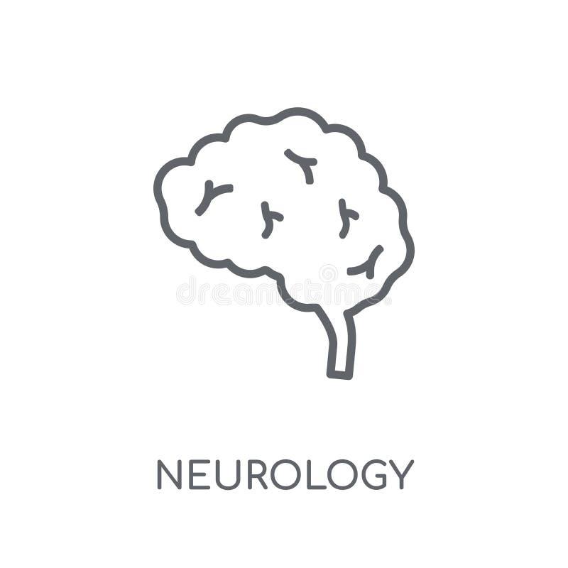 Icono linear de la neurología Concepto moderno del logotipo de la neurología del esquema encendido ilustración del vector