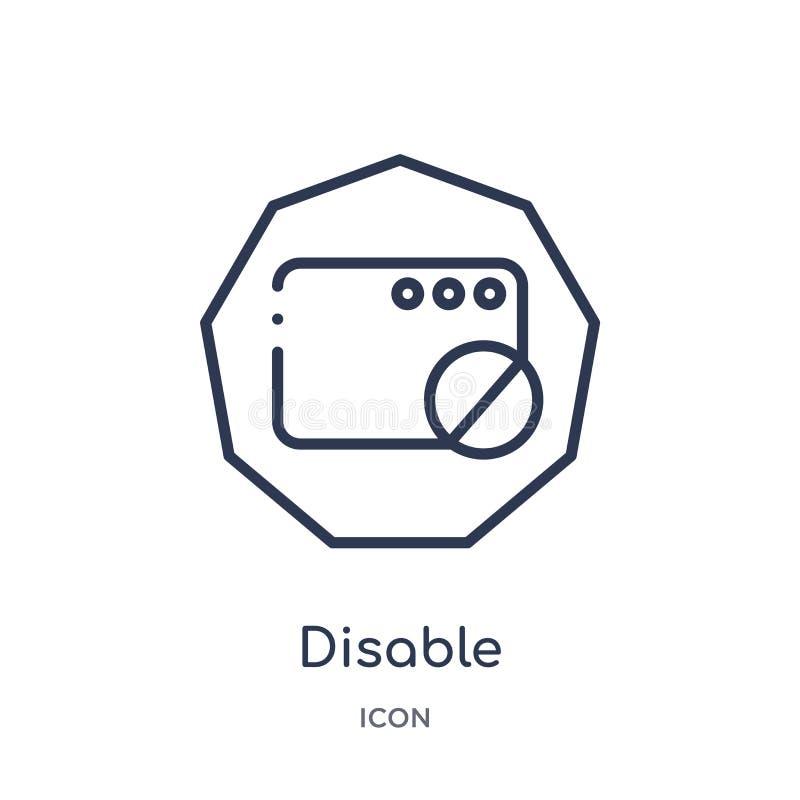 Icono linear de la neutralización de la colección del esquema del interfaz Línea fina icono de la neutralización aislado en el fo stock de ilustración