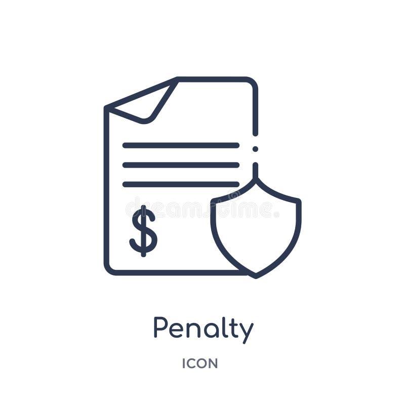 Icono linear de la pena de la colección del esquema de Gdpr Línea fina icono de la pena aislado en el fondo blanco ejemplo de mod libre illustration