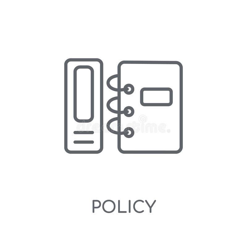 icono linear de la política Concepto moderno del logotipo de la política del esquema en blanco libre illustration