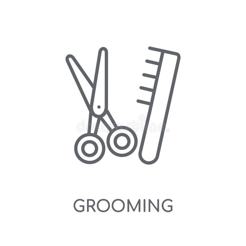 icono linear de la preparación Concepto moderno del logotipo de la preparación del esquema en wh stock de ilustración