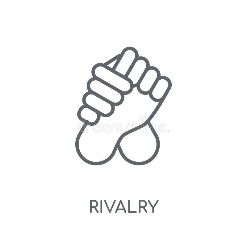 Icono linear de la rivalidad Concepto moderno del logotipo de la rivalidad del esquema en pizca libre illustration
