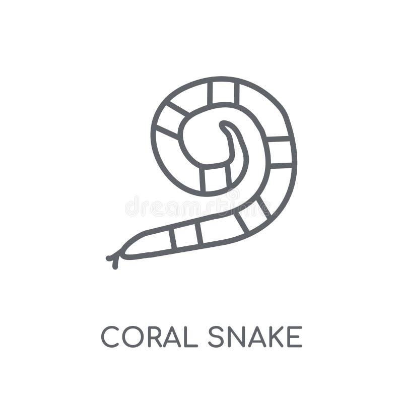 icono linear de la serpiente coralina Concepto moderno del logotipo de la serpiente coralina del esquema stock de ilustración