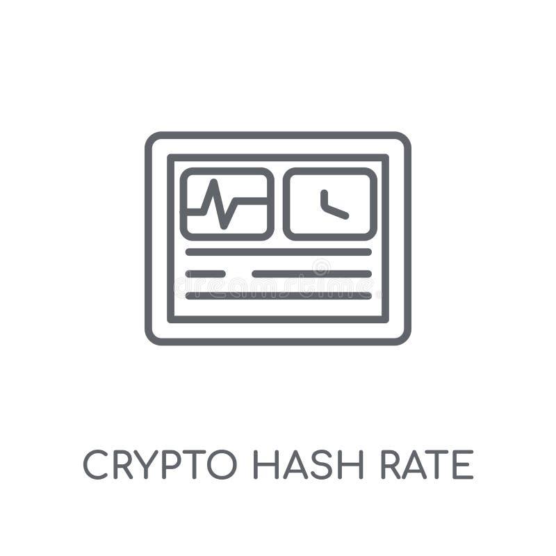 icono linear de la tarifa crypto del hachís Lo crypto de la tarifa del hachís del esquema moderno libre illustration