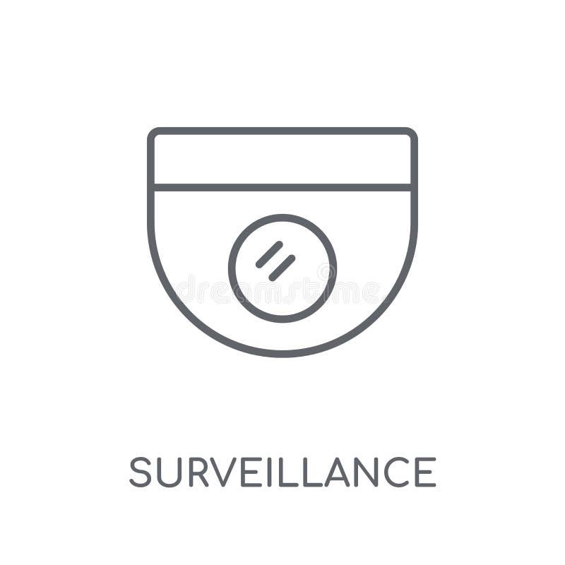 Icono linear de la vigilancia Conce moderno del logotipo de la vigilancia del esquema stock de ilustración