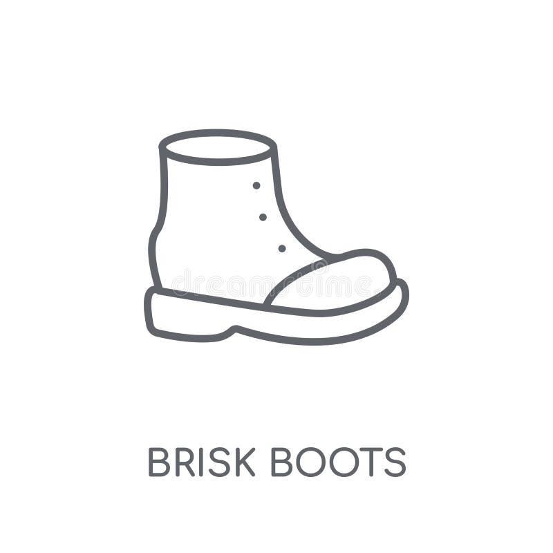icono linear de las botas enérgicas Concepto enérgico del logotipo de las botas del esquema moderno stock de ilustración